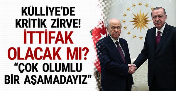 Erdoğan ve Devlet Bahçeli görüşmesi! İttifak olacak mı?