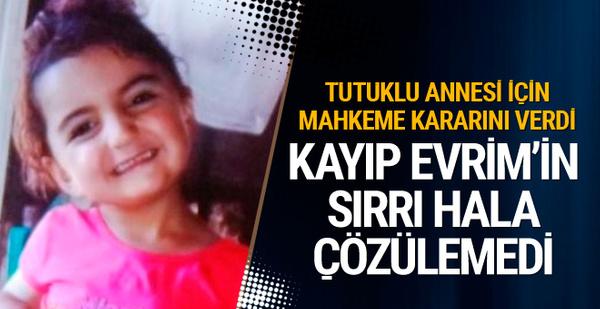Kayıp Evrim davasında tutuklu anneye tahliye