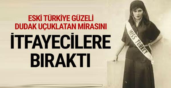 Eski Türkiye güzeli Mahmure Birsen Sakaoğlu'nun mirası itfaiyecilere kaldı