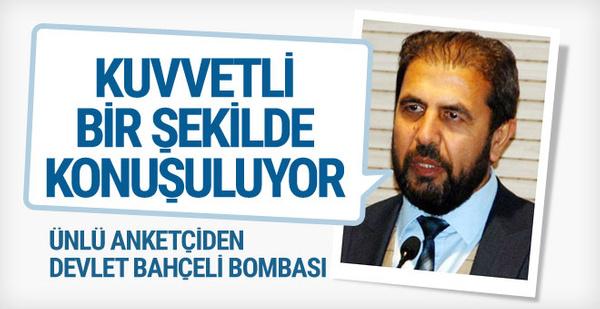 Ünlü anketçiden bomba iddia Devlet Bahçeli Meclis Başkanı olabilir