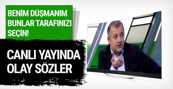 Mehmet Demirkol'dan canlı yayında olay sözler