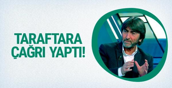 Rıdvan Dilmen'den Fenerbahçeli taraftarlara çağrı