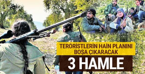 Teröristlerin hain planını boşa çıkaracak 3 hamle