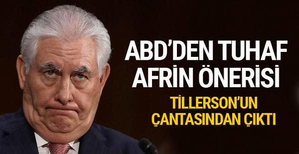ABD'den şok Afrin planı önerisi Tillerson'un çantasından çıktı