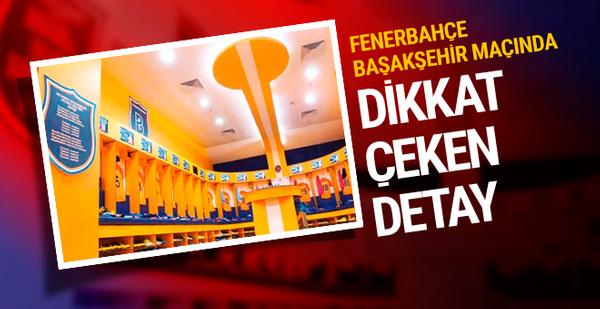 Fenerbahçe Başakşehir'in turuncu soyunma odasını boyadı