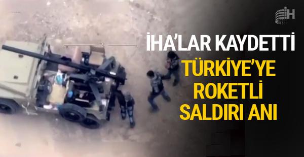 Türkiye'ye roket fırlatan sivil kıyafetli teröristler böyle vuruldu