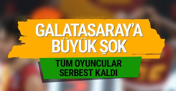 Galatasaray Odeabank'ta tüm oyuncular serbest!