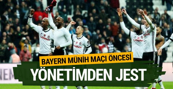 Beşiktaş'ta futbolculara Bayern Münih maçı öncesi müjde
