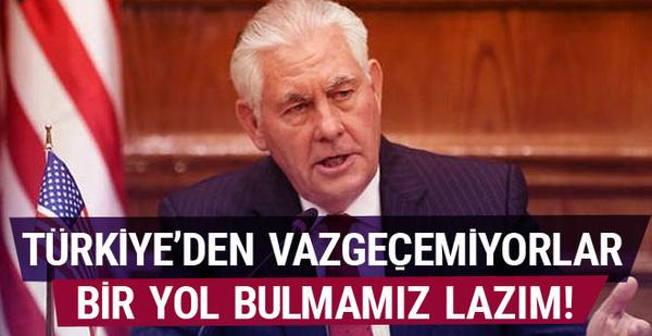Tillerson'dan bir Türkiye açıklaması daha