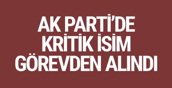 AK Parti İzmir İl Başkanı Bülent Delican görevden alındı!