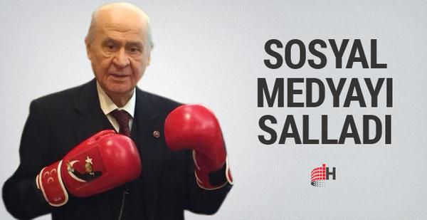 Devlet Bahçeli boks eldiveni giydi sosyal medya sallandı
