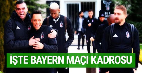 Beşiktaş'ın Bayern Münih maçı kadrosu!