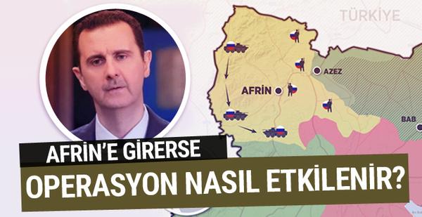 Esad'ın Afrin'e girmesi operasyonu nasıl etkiler?