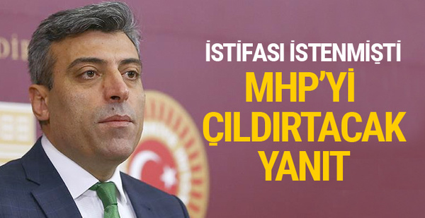 MHP'nin istifasını istediği Öztürk Yılmaz'ın yanıtı olay oldu