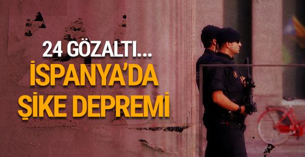İspanya'da şike depremi! 24 gözaltı...