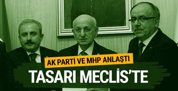 AK Parti MHP ittifak teklifi Meclis'e sunuldu işte bomba maddeler