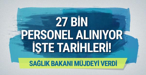 Bakan Demircan müjdeyi verdi: 27 bin sağlık personeli alınıyor