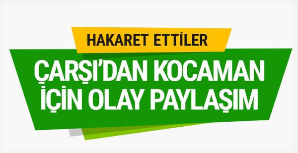 Beşiktaş taraftar grubu Çarşı'dan olay paylaşım