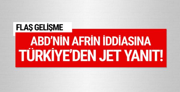 Dışişleri Bakanlığı'ndan ABD'li sözcüye Afrin cevabı!