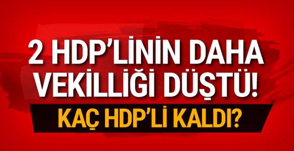 Flaş gelişme! 2 HDP'linin vekilliği daha düşürüldü