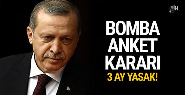 Erdoğan'dan sürpriz anket kararı! Güvenmiyorum...