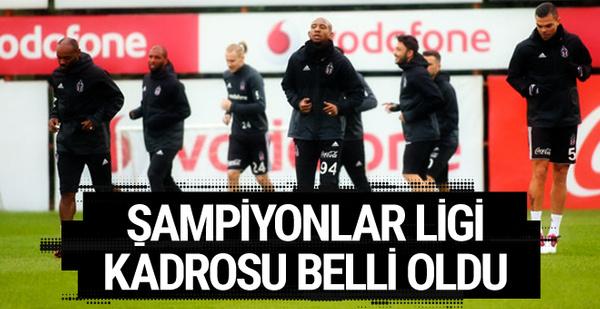 Beşiktaş'ın UEFA Şampiyonlar Ligi kadrosu belli oldu!