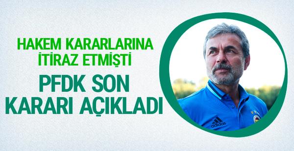 PFDK'dan Aykut Kocaman için flaş karar!