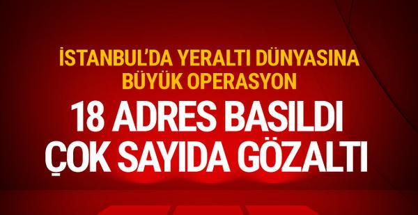 İstanbul'da 'Sarallar'a büyük operasyon! Çok sayıda gözaltı var