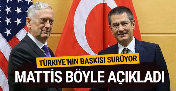 Mattis: Türkiye'nin baskıları sürüyor