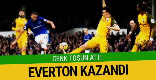 Cenk Tosun attı Everton kazandı!