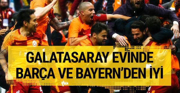 Galatasaray evinde Barça ve Bayern'den iyi