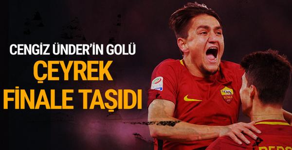 Cengiz Ünder'in attığı gol çeyrek finalist yaptı