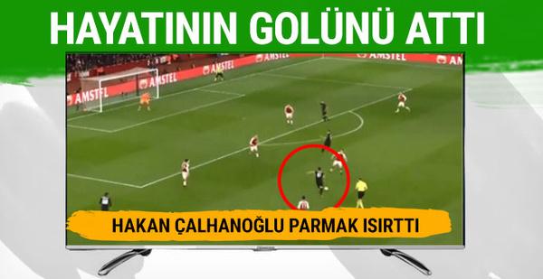 Hakan Çalhanoğlu Arsenal'a attığı golle parmak ısırttı