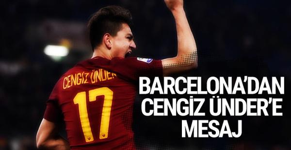 Barcelona'dan Cengiz Ünder'e mesaj