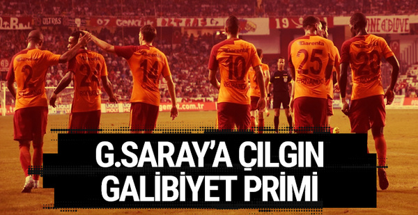 Galatasaray'a çılgın galibiyet primi!