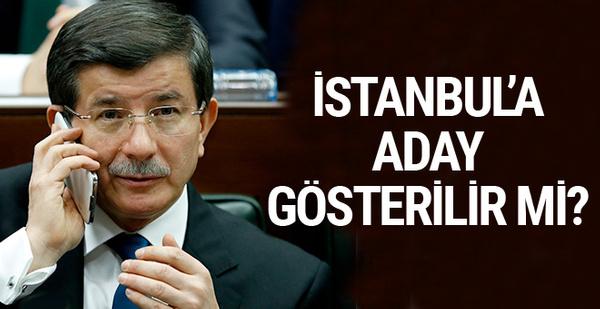Ahmet Davutoğlu İstanbul'a aday gösterilir mi?