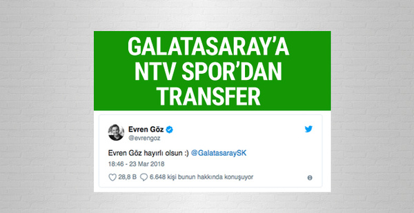 Galatasaray'a NTV Spor'dan transfer!