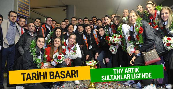 THY'nin Voleybol takımı Sultanlar Ligi'ne yükseldi
