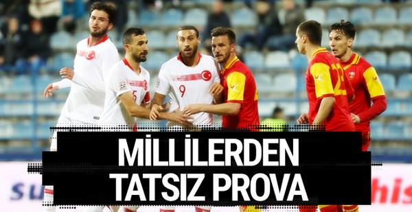 Karadağ-Türkiye maçı golleri ve geniş özeti
