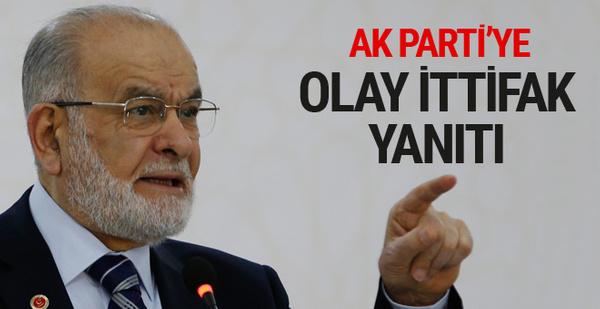 Saadet lideri Karamollaoğlu'ndan AK Parti'ye ittifak yanıtı