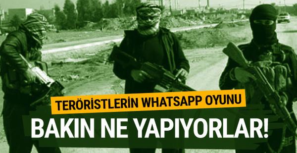 Teröristlerin Whatsapp oyunu ortaya çıktı