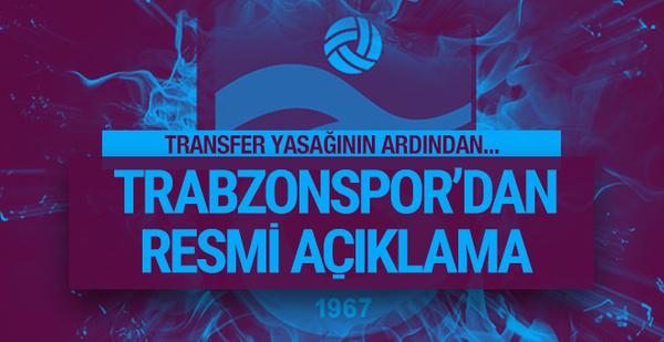 Trabzonspor'dan transfer yasağı açıklaması!