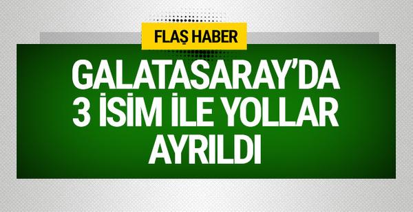 Galatasaray'da 3 isimle yollar ayrıldı!