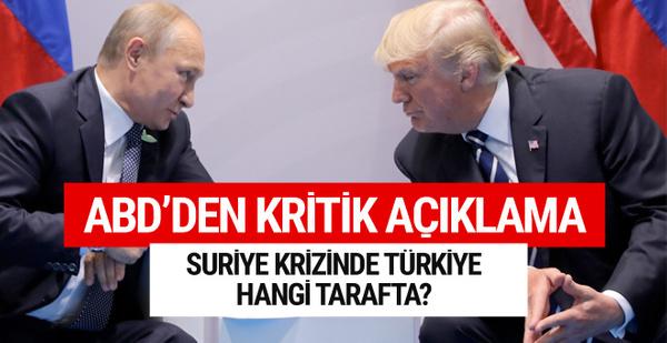 Türkiye hangi tarafta? ABD'li yetkiliden ilginç açıklama
