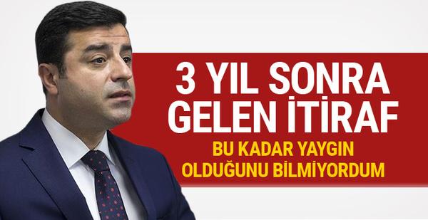 Selahattin Demirtaş'tan hendek ve barikat itirafı!