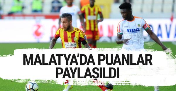 Yeni  Malatyaspor Alanyaspor maçı sonucu ve golleri
