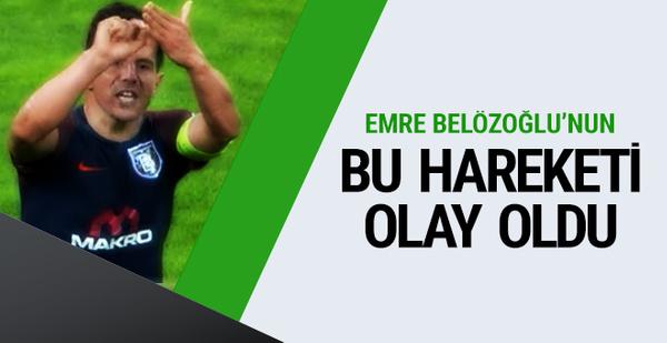 Emre Belözoğlu'nun hareketi maça damga vurdu!