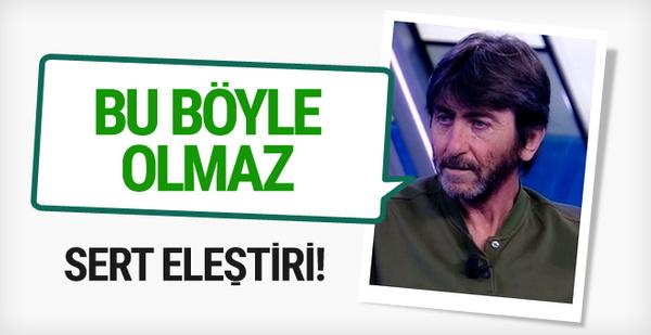 Rıdvan Dilmen'den hakem eleştirisi!