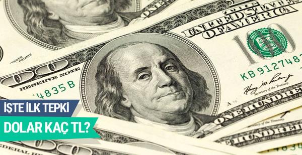 Referandumdan evet çıktı dolar çakıldı  (Dolar kaç TL 16 Nisan 2017)