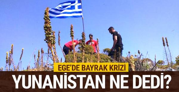 Bayrak kriziyle ilgili Yunanistan'dan ilk açıklama
